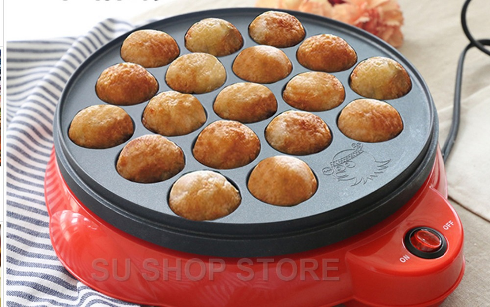 цена на Chibi Maruko machine octopus baking machine household takoyaki machine octopus balls maker Professional cooking tools EU US