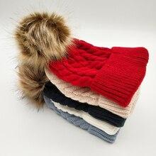 Knit Hat Beanie Toddle Baby-Girls-Boys Winter Cute Baby Children Hemming-Caps Autumn