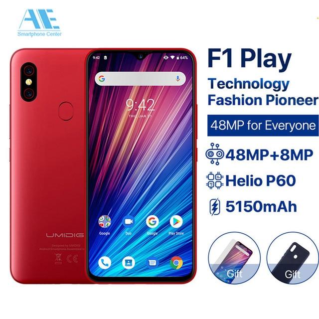 "UMIDIGI F1 Play 6.3"" FHD+ 5150mAh 48MP+8MP+16MP Cameras 6GB RAM 64GB ROM Android 9.0 Helio P60 Global Version Smartphone Dual 4G"