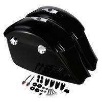 Мотоцикл черный глянец седельная сумка электронная защелка Концерт Аудио Крышка для индийский вождь Elite Темный конь Roadmaster классическ