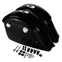 Motorcycle Gloss Black Saddle Bag Electronic Latch Concert Audio Lid For Indian Chieftain Elite Dark Horse Roadmaster Classic