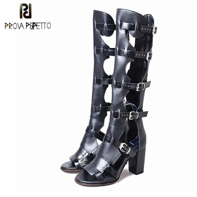Perfetto Sexy Riem Mode Sandalen Prova Laarzen Gesp Dames Hol gwAaHqn6