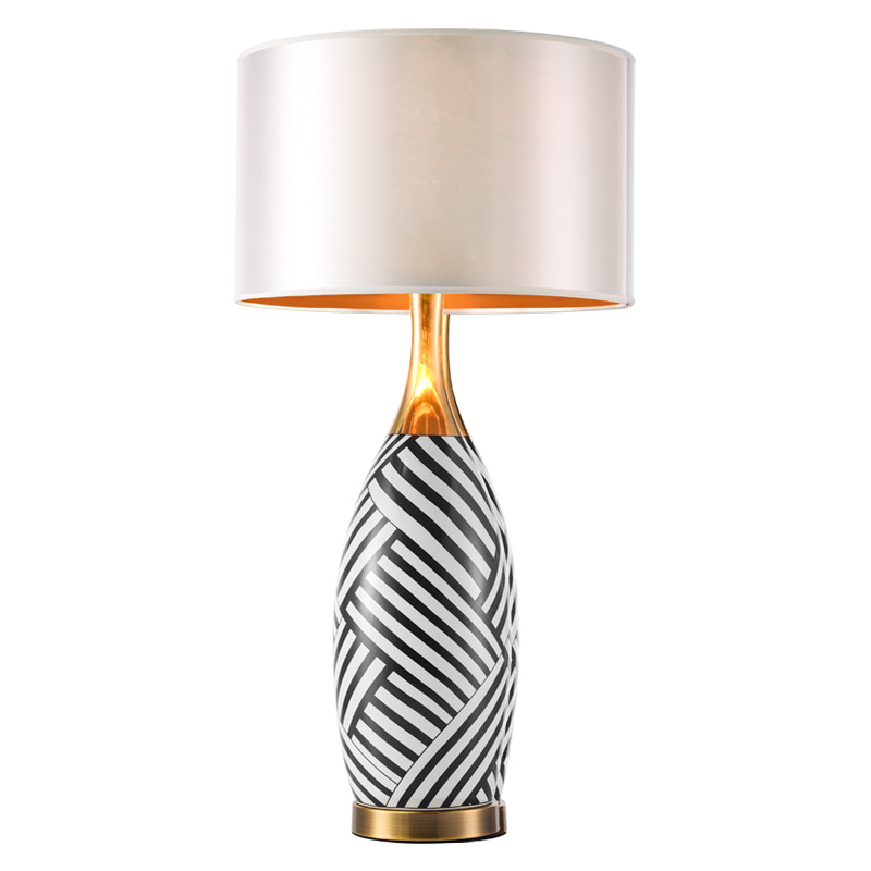 Europe zebra stripes ceramic table lamps foyer bedside ...