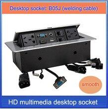 Tomada de mesa/hidden/VGA, 3.5 áudio, HDMI, USB, rede, RJ45, CABO de caixa de tomada de Informação/High-grade desktop soquete/B05J