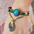 Fashion Jewelry Leather Bracelet Charm Bracelets Unisex Casual Rope Chain