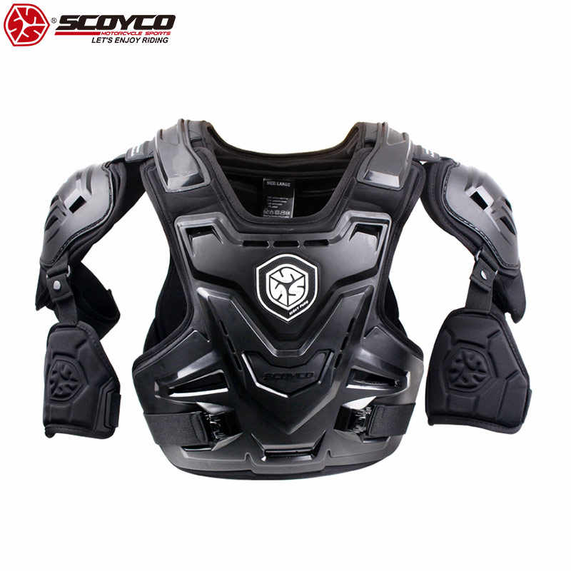 SCOYCO Motorcycle Armor Chest/Elbow/Shoulder/Waist Protector Armor Gear Motorbike Vest Safety Equipment Chest Back Guard AM07