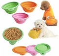 Dogs/Cats Pet Portable Silicone Collapsible Travel Feeding Bowl Water Dish Feeder Free Shipping
