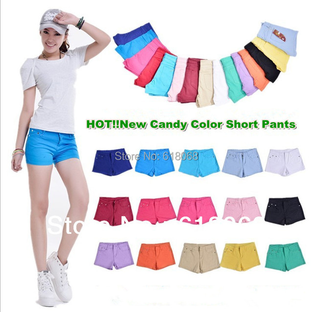 HOT!! Sale of Women Short Jeans Fashion 16Color Casual Short  Denim Jeans Lady's Active Shorts 26~31 free Shipping