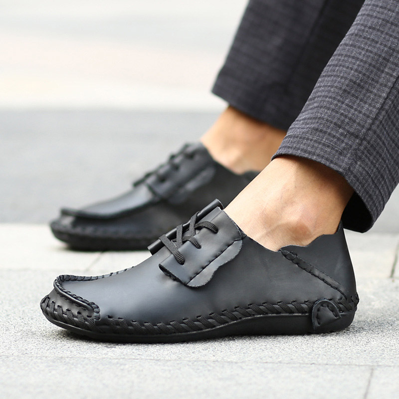 2018 Big Size Men Casual Leather Shoes Fashion Breathable Brand Male Shoes Large Size 49 50 Men Flats Shoes Brand Designer Shoes men luxury brand new genuine leather shoes fashion big size 39 47 male breathable soft driving loafer flats z768 tenis masculino