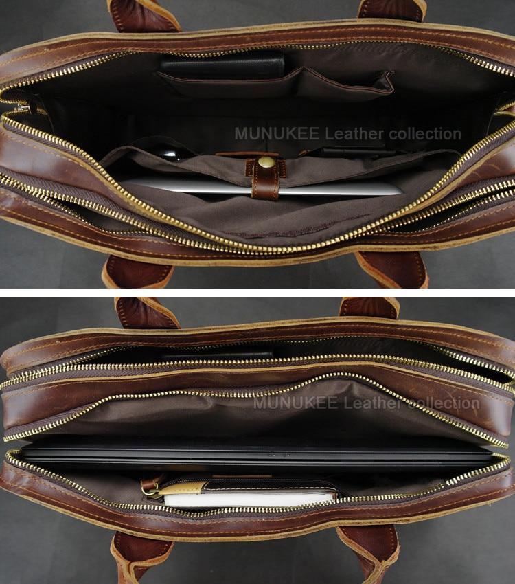 Luksuzna torba za laptop od prave kože za muškarce Laptop torba od - Aktovke - Foto 6