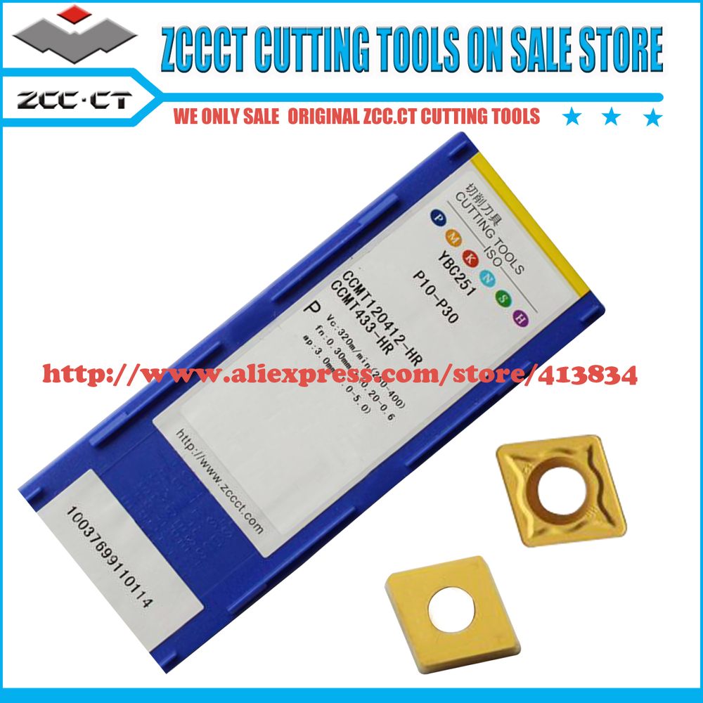 50pcs ZCC turning tool CCMT120412 HR YBC251 CCMT ZCCCT cemented Carbide CNC Tool turning insert CVD