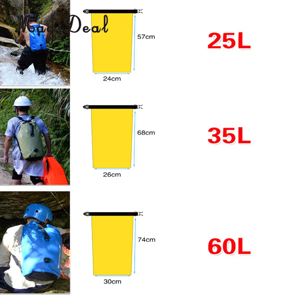 MagiDeal New 35L Waterproof Nylon Drift Dry Bag for Outdoor Sports River Rafting Boating Sailing Driving Fishing Supplies Yellow
