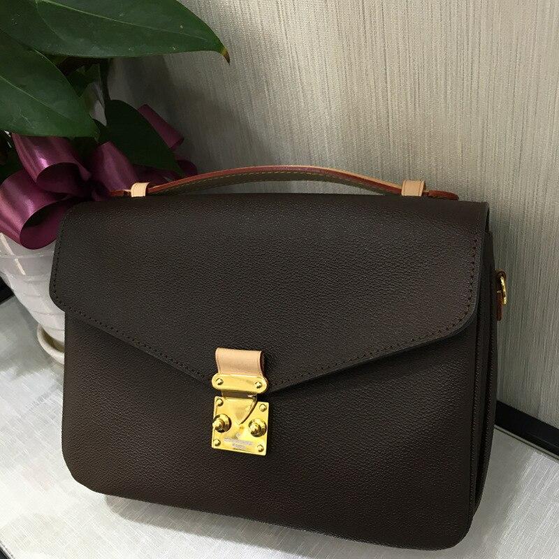 top quality Luxury brand women Metis bag classic fashion messenger bag leather with canvas monogram shoulder handbag free DHL