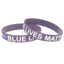 300 יחידות משנה דק חייהם קו כחול לבן שחור כחול צמיד סיליקון צמידי משלוח חינם על ידי DHL express