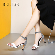 BELISS fashion ankle wrap shoes women high heel summer sandal for new arrival party dress ladies sandals buckle S15