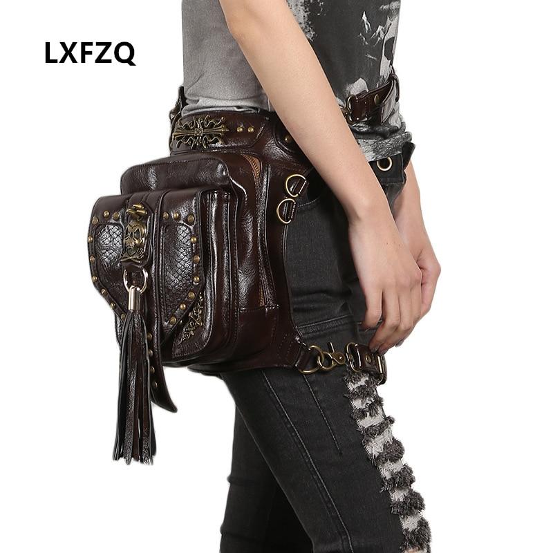 Banankat bag for women's belt Belly band motorcycle leg bag motorcycle fanny pack belt bag men Steam punk Holster package цена