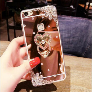 Rhinestone Phone Case For Redmi Note 7 Note 6 pro Note 5 6 6A S2 6Pro Mi 9 8SE 8Lite Max 3 Mix 2s 6X A2 F1 5s stand Mirror Coque()
