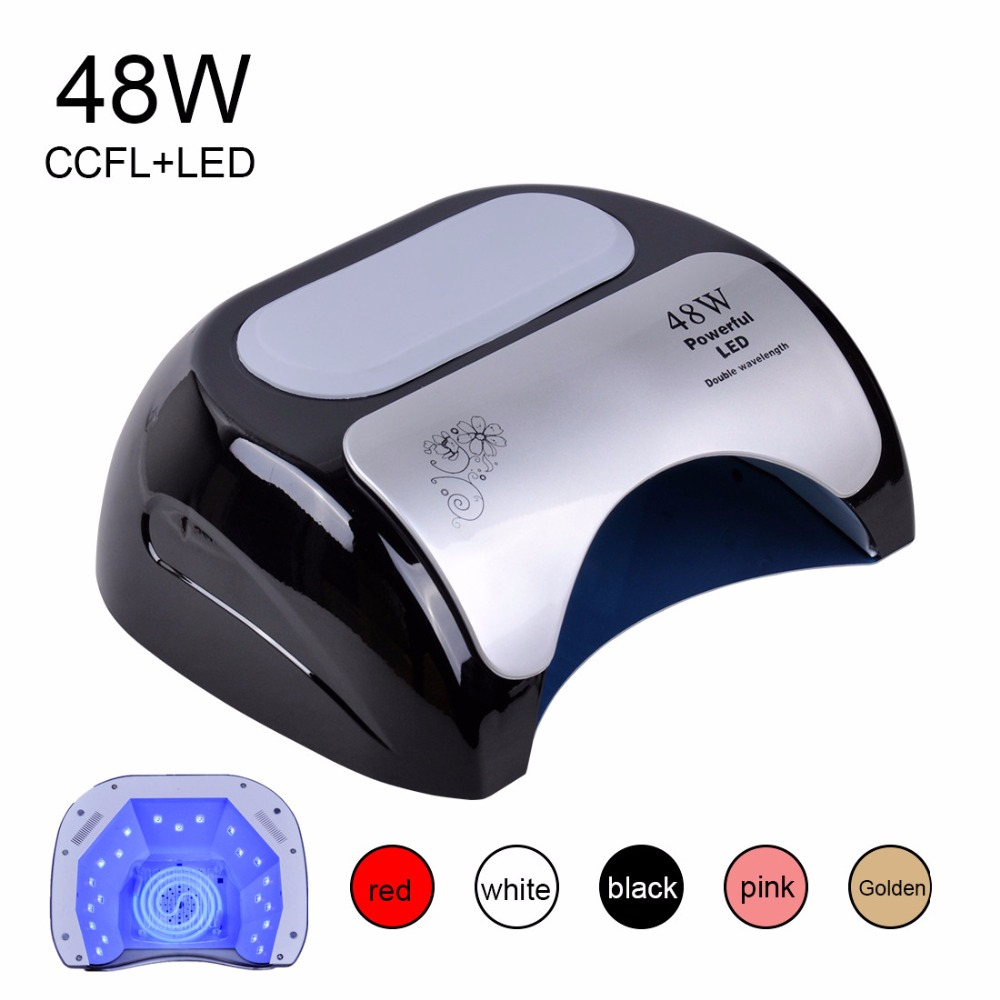 Biutee 48W Nail Dryer Polish Machine CCFL UV Lamp LED Nail Lamp For Gel Nail Polish Art Automatic Hand Sensor Nail Art Tools 48w nail polish gel art tools professional ccfl led uv lamp light 110 220v nail dryer automatic induction 10s 20s 30s timer