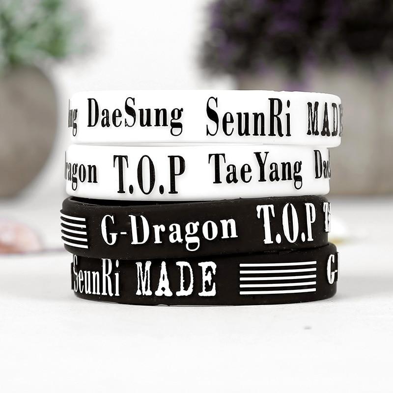 KPOP Bigbang MADE Wristband GD TOP Daesung Silicone Bracelet - kpop store