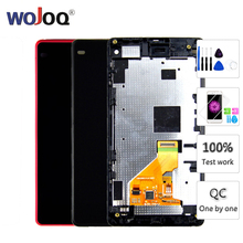 Original DisplayFor Sony Z1 Mini Compact D5503 M51W LCD Display Touch Screen Digitizer Assembly With Frame Replacement все цены