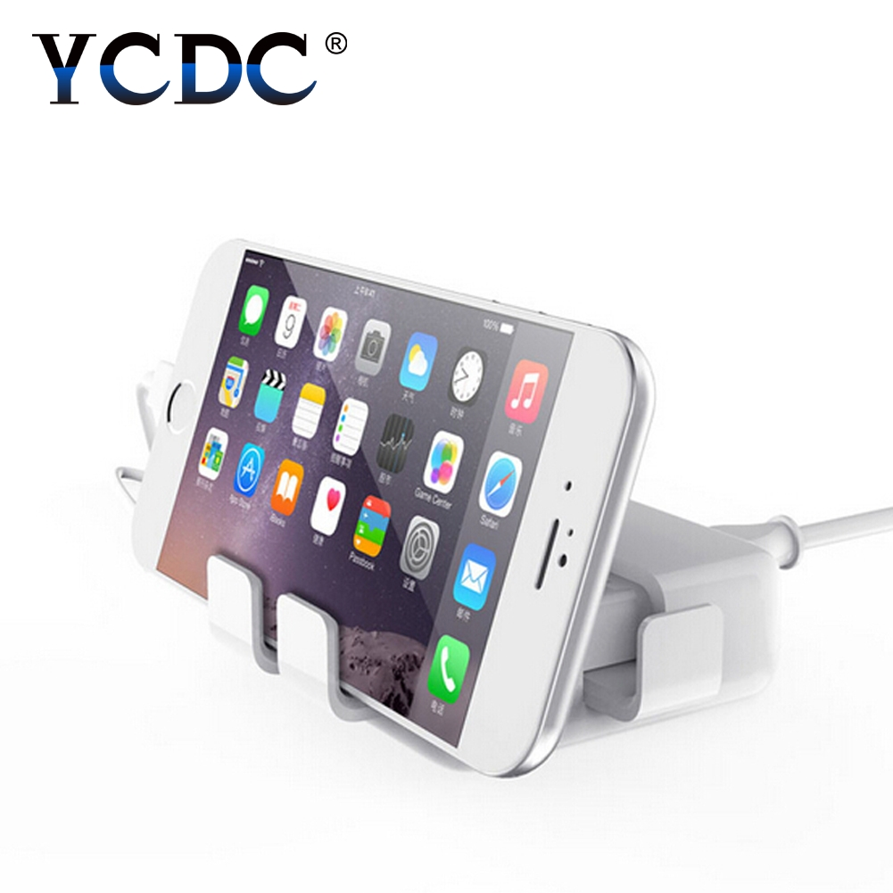 YCDC UK EU US Plug Travel Charger 4 Ports USB Socket Hub Home Wall Power Adapter Power Switch for PDA/iPhone/Samsung/xiaomi/iPod