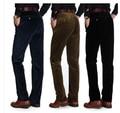 Frete Grátis Calças Dos Homens de Veludo 2016 Primavera Outono calças dos homens Em Linha Reta Calças Casuais Moda Calças Tamanho 32-40