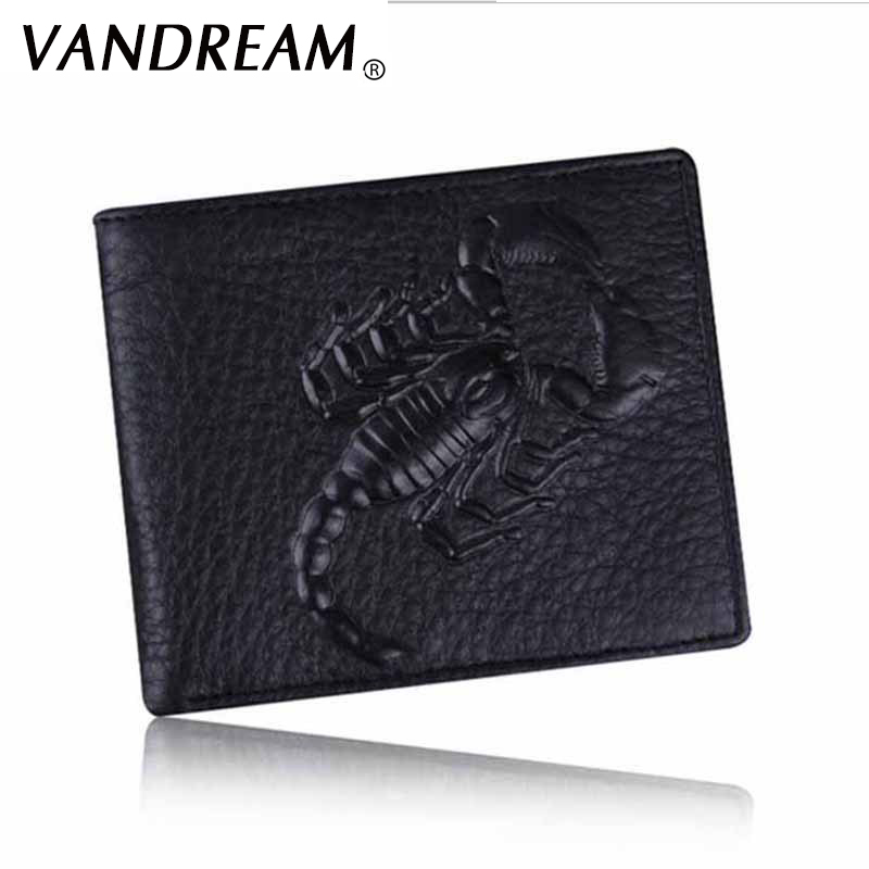 Leather Wallet Men Scorpion Pattern Top Quality Purse male clutch Fashion Brand Names Card Holders Carteira Masculina hand jet printer price