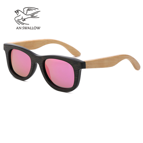AN SWALLOW Brand Design Children Sunglasses Multi-color Frame Wooden Sunglasses for Child Boys Girls Sunglasses Wood TAC UV400 Karachi