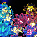 10M 60LED Outdoor Waterproof Lotus Solar LED Garlands String Lights for Fairy Party, Festival, Wedding, Birthday Decoration