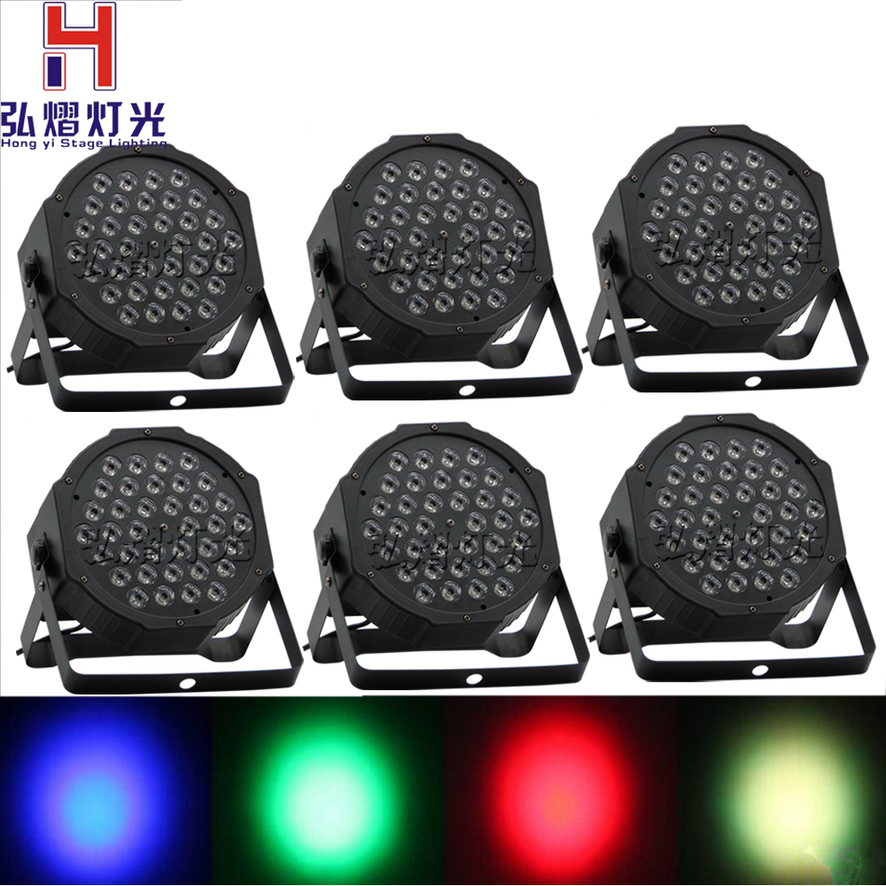 6pcs/lot RGB Stage Light 36 X1w LEDS Par Light Disco DJ Lighting dmx led par Club Party light Strobe AC110-240V Fast Shipping 6pcs lot led par 84x3w rgbw light par64 rgb stage light decoration dmx wedding party bar lighting disco