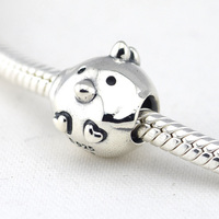 Chicken Silver Charm Authentic 925 Sterling Silver DIY Beads Fits European Pandora Bracelet Bangle Women Jewelry