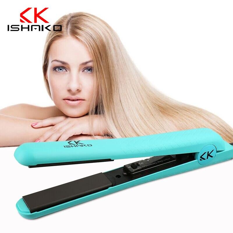 ФОТО ISHAKO New hair straightening iron Temperature Control Hair Straighteners ceramic Flat Hair Care Styling Tools