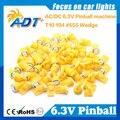 Envío Gratis 100 unids Pinball Fantasma Contra 555 W5W led 6.3 V AC/DC 5050SMD Color Ámbar de Bally Máquina de Juego de Pinball