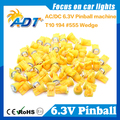 Free Shipping 100pcs Anti Ghosting 555 W5W Pinball led 6.3V AC/DC 5050SMD Amber Color For Bally Pinball Game Machine