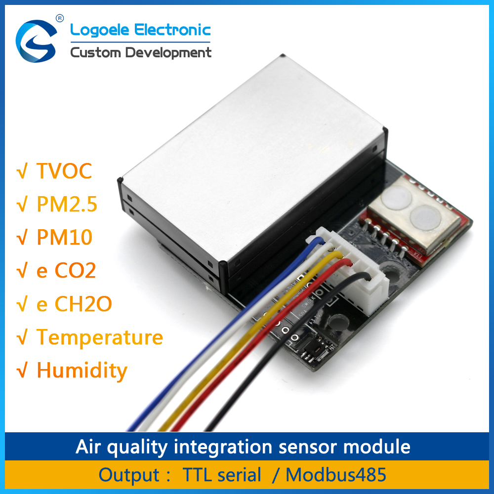 High quality LGAQS-KZ01 PM2.5 formaldehyde air quality testing temperature and humidity CO2 / TVOC sensor module temperature and humidity sensor protective shell sht10 protective sleeve sht20 flue cured tobacco high humidity