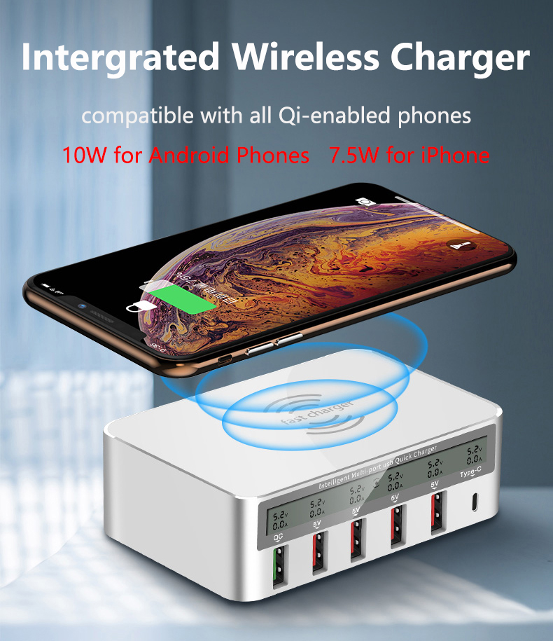 QI Wireless Fast Charger Quick Charge 3.0 USB Type C Charger (2)