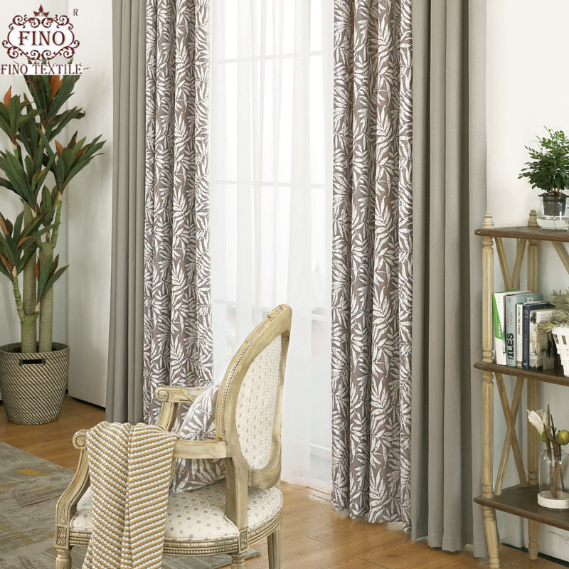 khaki bedroom curtains Jacquard Coffee Curtains For Living Room Solid Khaki