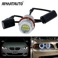 Apmatauto 2x Error Free 60w LED Angel Eyes Marker Lights Bulbs White/Blue/Red For BMW E39 E53 E60 E61 E63 E64 E65 E66 E87 525i
