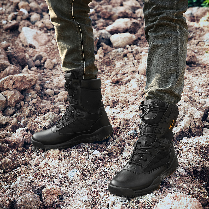 2018 Hot Sale Man Winter Boots Comfortable Men Tracking Boots Rubber Bottom Mens Black Shoes High Top Work Boots For Male marmot midweight bottom cocona man black