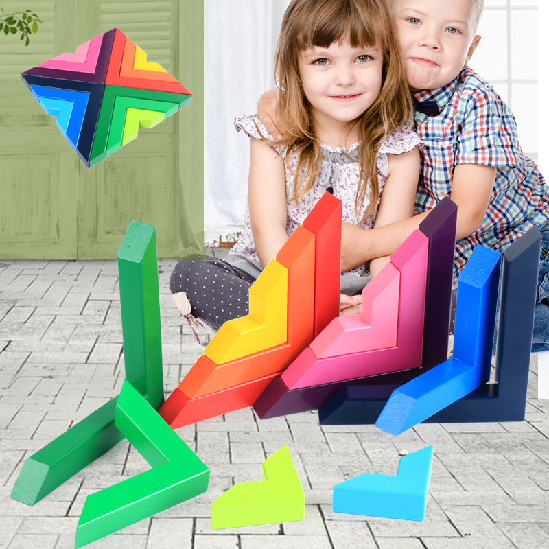 Wooden Rainbow Building Blocks Oyuncak Kids Toys For Children Boys Girls Montessori Oyuncaklar Brinquedo Brinquedos Juguetes