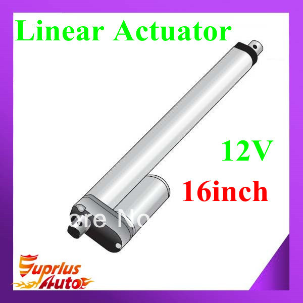 ФОТО 100% factory original 12/24V actuator linear, 406mm/ 16inch stroke, 1000N/225lbs load small linear actuator