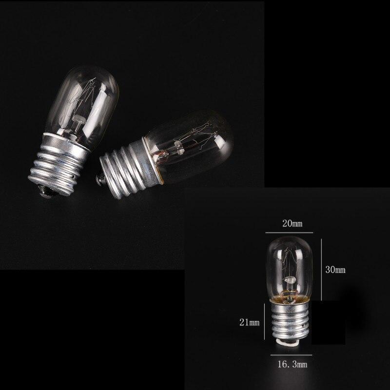 High Bright E17 15W LED Bulbs Screw Base SMD LED Glass Light Lamp Bulb Pure Warm White 220V For Sewing Machine Refrigerator