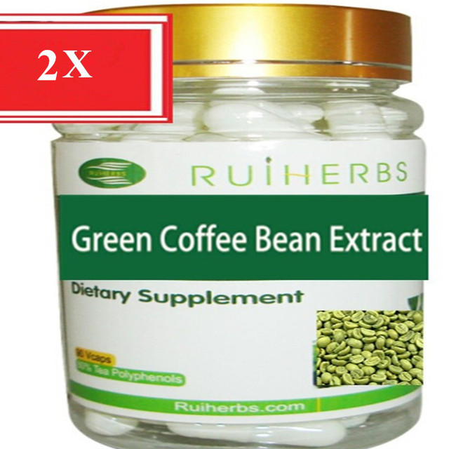 2Bottles Green Coffee Bean Extract 65% GCA Capsule 500mg x 180counts free shipping