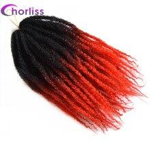 """Chorliss 18 """"1 1btred Афро Кудрявый Вьющиеся Твист Крючком Косы Волосы Синтетические Ombre Плетение Волос 100 г/упак."""