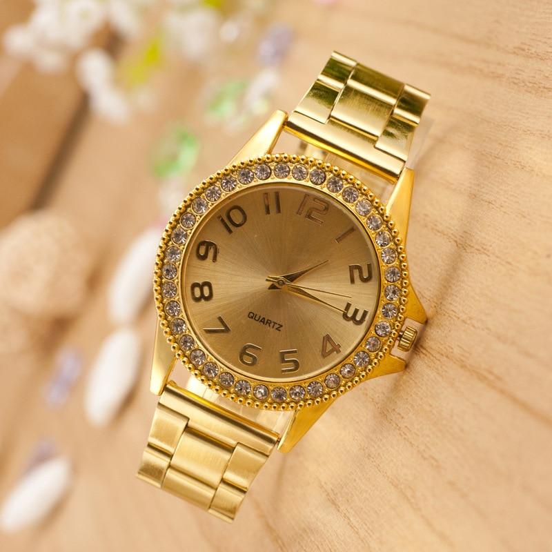New Mens Watches Top Brand Luxury Clock Quartz Golden Wrist Watches For Women Lovers' Watches Relogio Feminino Timer