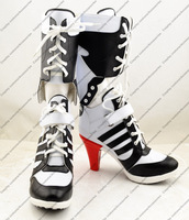 New Anime Shoes Batman Suicide Squad Harley Quinn Cosplay Boots High Quality Customized