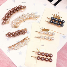 Korea Hair Accessories Flower Diamond Pearl Clips For Girls Crystal  Bows Hairpins Barrette 4