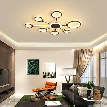 Brown frame lustre led Chandelier chandeliers ceiling Fixture Bedroom Living room Surface mount modern chandelier Lamp Lustres