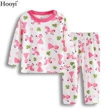 Hooyi/Розовая одежда принцессы для маленьких девочек; комплекты одежды; Пижама для младенцев; комплект одежды; футболка; брючный костюм с лошадкой; одежда для сна для девочек из хлопка
