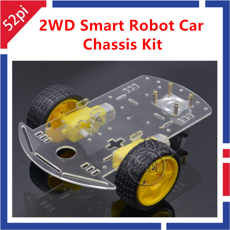 New Motor Smart Robot Car Chassis Kit Speed Encoder Battery Box 2WD For Arduino